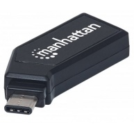 MANHATTAN USB-C Mini Multi-Card Reader/Writer, Hi-Speed USB, Mobile, 24-in-1
