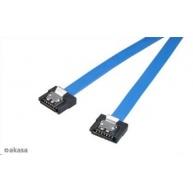 AKASA kabel  Super slim SATA3 datový kabel k HDD,SSD a optickým mechanikám, modrý, 30cm