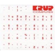 PremiumCord Česká přelepka na klávesnici - červená