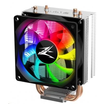 ZALMAN chladič CNPS4X RGB/ ultratichý/ 92mm PWM fan/ 2 heatpipes/ pro Intel 115x, AMD AM4