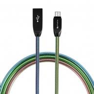 4smarts datový kabel FERUMCord, 2 A, micro USB, duhová