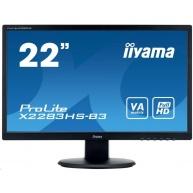 Iiyama monitor ProLite X2283HS-B3, 54.6cm (21.5''), HDMI, Full HD, black