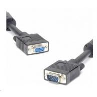 PREMIUMCORD Kabel VGA prodlužovací 5m (HD15M/F, dvojité stínění, feritová jádra)