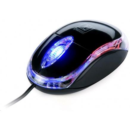 CONNECT IT Myš CI-129 s LED podsvícením USB, černá