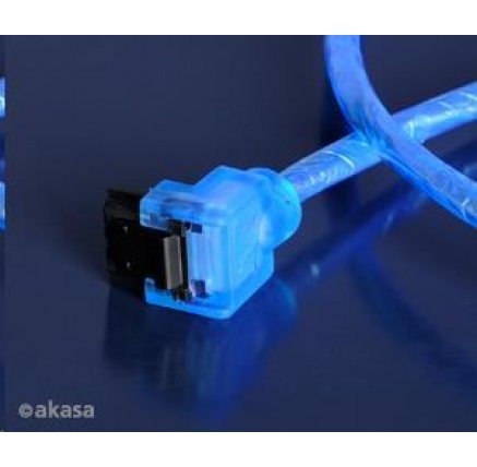 AKASA kabel SATA 3.0 cable 50 cm modrý