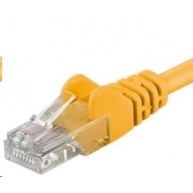 PREMIUMCORD Patch kabel UTP RJ45-RJ45 level 5e 0.25m žlutá