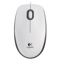 Logitech Mouse M100, white