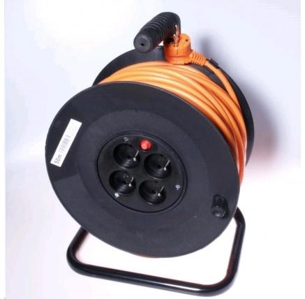 PREMIUMCORD Prodlužovací přívod 230V buben 25m, 4 zásuvky