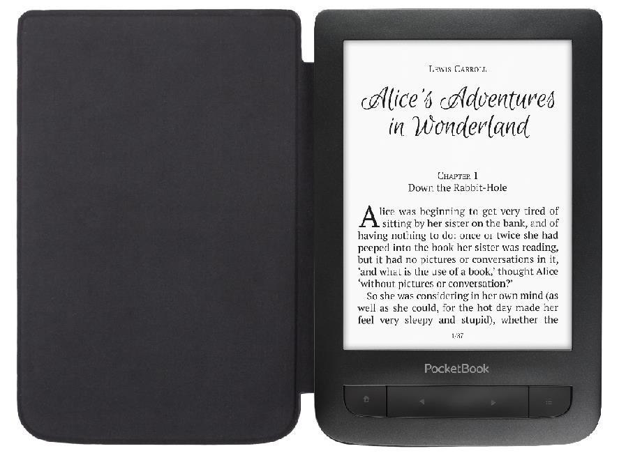 POCKETBOOK 625 Basic Touch 2 Save & Safe, s pouzdrem, černý