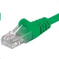 PREMIUMCORD Patch kabel UTP RJ45-RJ45 CAT5e 0.25m zelená