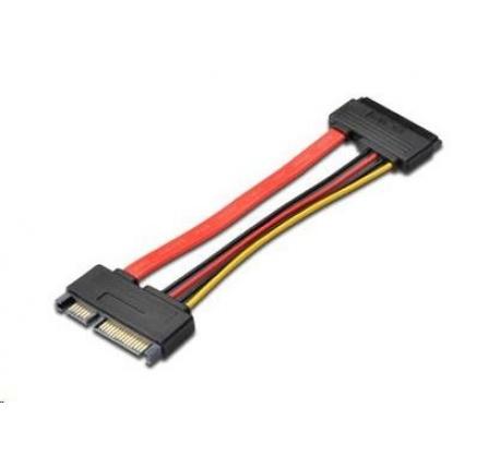 PREMIUMCORD Kabel SATA + napájení prodlužovací k HDD, 15cm