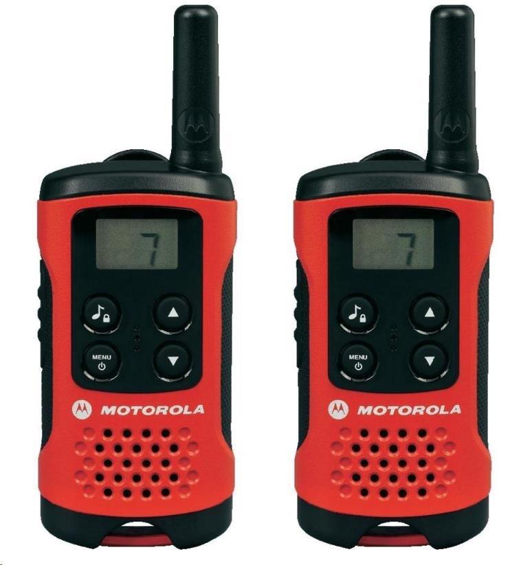 Motorola vysílačka TLKR T40 (2 ks, dosah až 4 km), červená