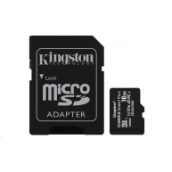 Kingston 16GB micSDHC Canvas Select Plus 100R A1 C10 Card + SD adaptér