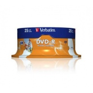 VERBATIM DVD-R(25-Pack)Spindle/Inkjet Printable/16x/4.7GB