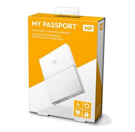 "WD My Passport 4TB Ext, 2,5"" USB3.0, WHITE"
