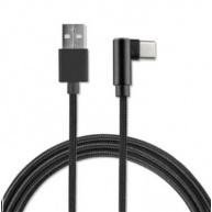 4smarts datový kabel AngledCord, konektor USB-C, délka 1 m, černá