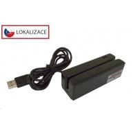 Virtuos MSR-100A třístopá čtečka magnetických karet, USB-HID, černá