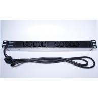 "PREMIUMCORD Panel napájecí do 19"" racku 1U, 10xIEC (C13), 2m kabel"