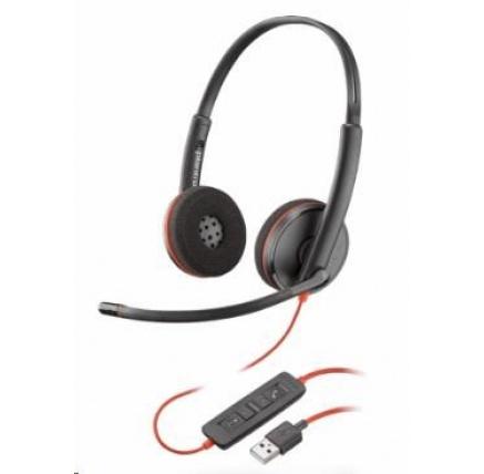 PLANTRONICS náhlavní souprava BLACKWIRE 3220, USB, stereo